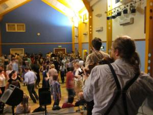Dancing to Albireo at Oxfolk Ceilidh
